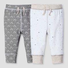 Baby 2-Piece Pant Set Nate Berkus™ - Heather Grey/White