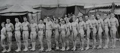 1935 CIRCUS MEN WOMEN Performers Tights Leotards Dance Acrobatic Trapeze Artist Costumes by Christian Montone, via Flickr