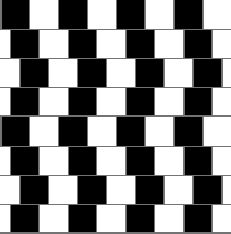 Optical illusion, all the horizontal lines are parallel