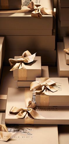Presents waiting to be unwrapped - festive gifts from Burberry
