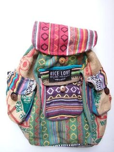 Recycled backpack- Every bag feeds a family!