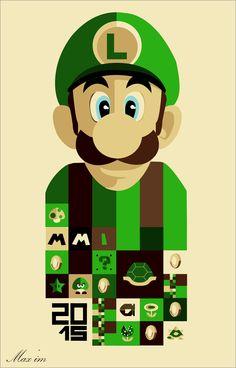 Nerdy Wallpaper, Spiderman Drawing, Super Mario And Luigi, Video Game Posters, Sale Poster, Super Nintendo, Mario Bros, Watercolor Paintings, Panda