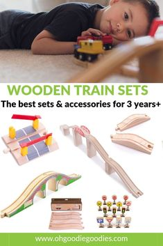 The best wooden train sets and accessories for kids aged 3 years and up. 3 Year Olds, Wooden Train, Train Set, Fine Motor Skills, Worlds Of Fun, Funny Babies, Buses, Cool Toys, Kids And Parenting