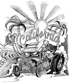 3583 best artful help images in 2019 drawings of cars car Nova Model Kits Trumpeter california by rob dringenberg kustom kulture canvas fine art print moodswingsonthenet cartoon car drawing