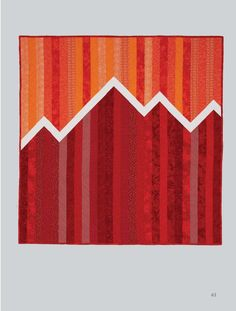 Beautiful impression of a mountain range with different color combo.