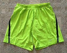"""Nike Mens Sz Large L Fierce Green 7"""" Distance Running Shorts Dri-Fit 695441 368"""