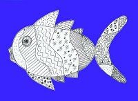 Line Drawings - 2nd grade fish: Uses and produces different line qualities for a variety of purposes. Uses and produces horizontal, vertical, diagonal, curved, dotted, dashed, and zigzag lines to create shapes in an artwork.