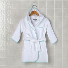 For P - Monogram everything! Fresh Start Bath Robe (Lt. Green)  | The Land of Nod
