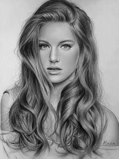 Artist Abdy Racka Realistic Pencil Drawings, Girly Drawings, Amazing Drawings, Pencil Art Drawings, Art Drawings Sketches, Portrait Sketches, Pencil Portrait, Portrait Art, Portrait Photography