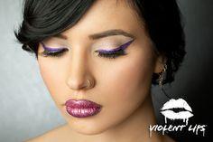 Violent Eyes - Violet Glitteratti - Straight eyeliner style