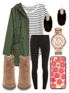 """Fall outfit "" by jadenriley21 on Polyvore featuring Splendid, Steve Madden, Kendra Scott, MICHAEL Michael Kors and Sonix"