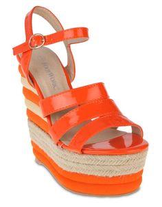 Orange Footwork Tanya Wedge Sandals