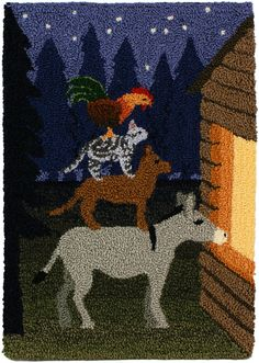 punch+needle+patterns+free   Musicians of Bremen punchneedle embroidery by June Gilbank (PlanetJune ...