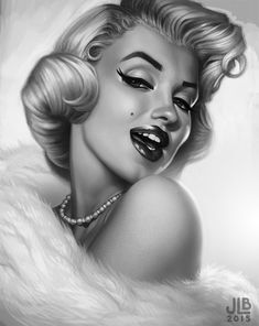 ArtStation - Marilyn art by Jessica Oyhenart-Ball /  / This image first pinned to Marilyn Monroe art board here: http://pinterest.com/fairbanksgrafix/marilyn-monroe-art/ #Art #MarilynMonroe