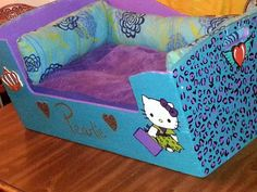 HelloKitty DogBed. I might just have to make this for Bella