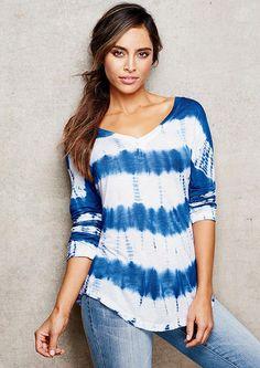 Malika V-Neck Tie Dye Tunic