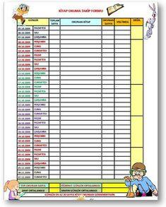 Kitap okuma takip formu Turkish Lessons, Book Activities, Communication, Preschool, Classroom, Templates, Education, Motivation, How To Plan
