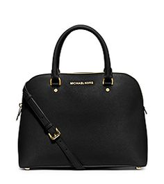 Cindy Large Saffiano Leather Satchel by Michael Kors