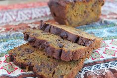 paleo pumpkin chocolate chip bread that is nut-free, and can be made in the jar of your blender! Make it into muffins for a grab and go treat.