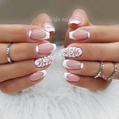 The advantage of the gel is that it allows you to enjoy your French manicure for a long time. There are four different ways to make a French manicure on gel nails. The choice depends on the experience of the nail stylist… Continue Reading → Shellac Nail Designs, French Tip Nail Designs, Cute Summer Nail Designs, Cute Summer Nails, French Tip Nails, Cute Nails, Pretty Nails, Nail Art Designs, Nails Design