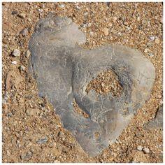 Heart stone - Sables d'Olonne, France