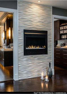 fireplace wall ideas modern fireplace tile ideas best design home inspiration tiled fireplace wall tiled fireplace and fireplace wall feature fireplace wall colour ideas Tiled Fireplace Wall, Candles In Fireplace, Home Fireplace, Fireplace Remodel, Living Room With Fireplace, Fireplace Surrounds, Fireplace Design, Fireplace Ideas, Modern Fireplace Tiles
