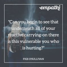 Ya gotta be able to be a witness to your own reactivity and then get curious about the deeper underlying pain that is the real driver of your reactive behavior. Vulnerability Quotes, Behavior, It Hurts, Connection, Relationship, Feelings, Learning, Behance, Studying