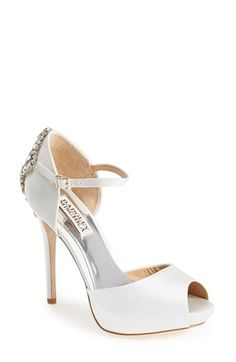 Badgley Mischka 'Gene' Crystal Back Ankle Strap Pump (Women) | Nordstrom