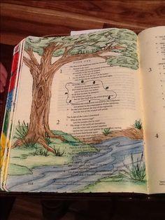 Psalm 1:3-4. Sherrie Bronniman - Art Journaling: In My Bible