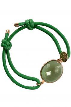 green quartz #leather bracelet I designed by marjana von berlepsch I NEWONE-SHOP.COM