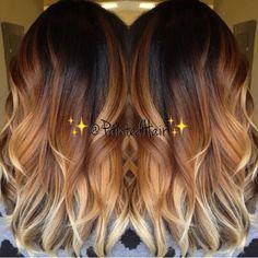 Hair Color Purple, Hair Color And Cut, Cool Hair Color, Hair Colors, Ombré Hair, Hair Dos, Tiger Hair, Baliage Hair, Brown Blonde Hair