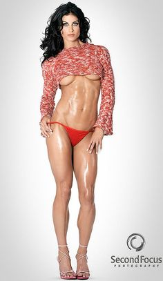 Figure competitor, fitness model and clothing designer Maria Rogers