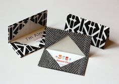 How to make an origami business card holder ... nice way to add more images/info than a card can carry