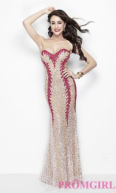 Long Strapless Sequin Formal Gown by Primavera at PromGirl.com Long Prom  Gowns ea2b38480da5
