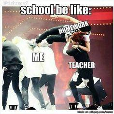 School be like...