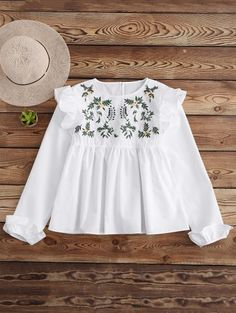 GET $50 NOW | Join Zaful: Get YOUR $50 NOW!http://m.zaful.com/leaf-embroidered-ruffle-smock-top-p_267612.html?seid=2456155zf267612