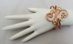 """2 1/4"""" WIDE MEXICO DESIGNER SIGNED GOLD COPPER PLATED LARGE SCROLL CUFF BRACELET"""