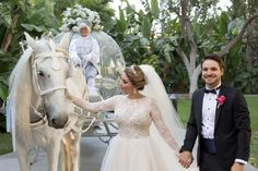 Cinderella's Glass Coach at a Disneyland Hotel wedding