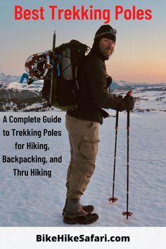 Guide to all the Best Trekking poles for Backpacking, thru hiking, walking and trekking. The Best Walking Poles are Lightweight, Strong and assist in reducing fatigue on the body. Take a look at the review of all the Best Trekking Poles. Add to your best Pinterest Board. BikeHikeSafari Review Best Hiking Gear, Thru Hiking, Backpacking Tips, Hiking Tips, Walking Poles, Continental Divide, Cascade Mountains, Pacific Crest Trail, Appalachian Trail
