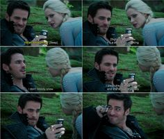 """I don't bloody know. I press Emma button, and she answers usually.""- Hook and Elsa - 4 * 3 ""Rocky Road"""