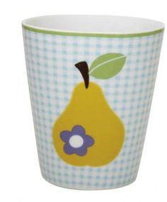 FALBY Mug Birne gelb Becher Tasse Porzellan - ichbinklein.de