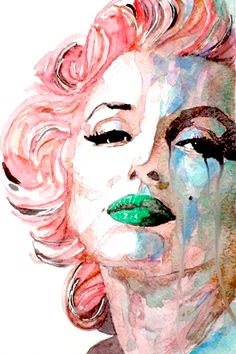 Insecure, Flawed But Beautiful Marilyn Monroe Canvas Print by Paul Lovering… Marilyn Monroe Kunst, Marilyn Monroe Artwork, Marylin Monroe, Pop Art Marilyn, Arte Pop, Watercolor Portraits, Watercolor Paintings, Watercolors, Frida Art