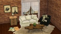MYSTICRAIN LOVESEAT AND ARMCHAIRS at Leo Sims via Sims 4 Updates