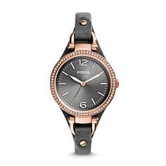 Vintage inspired black and rose gold watch