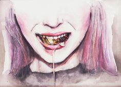 candy saliva