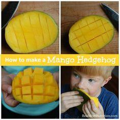 How To Make A Mango Hedgehog - Real Mom Nutrition @RMNutrition