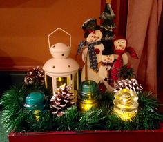 Christmas complete with old insulators.