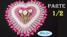Jogo de Banheiro Coração Tapete de Pia 1/2 # Wilma Crochê