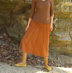 this skirt...   Lovely Day Below Knee Wanderer Skirt by gaiaconceptions on Etsy, $85.00