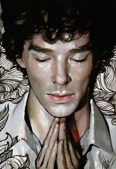"""I wish I had this kind of talent with a paintbrush! - """"Really gorgeous!!  Sherlock_BBC by *allegator on deviantART"""""""